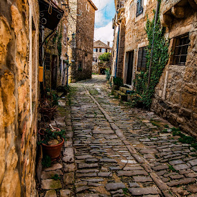 street past by Eseker RI - City,  Street & Park  Street Scenes ( tranquil, relax, croatia, tranquility, grožnjan, relaxing,  )
