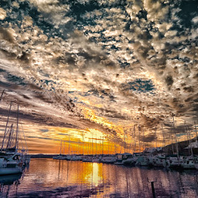 by Randall Langenhoven - Landscapes Sunsets & Sunrises ( clouds, sky )
