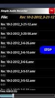 Screenshot of Simple Audio Recorder