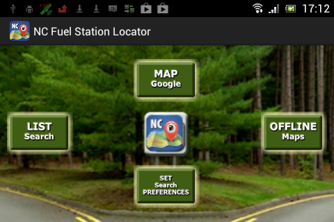 NC Fuel Station Locator- screenshot