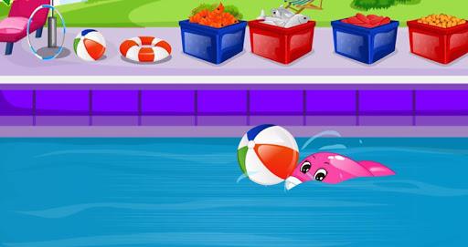 玩免費休閒APP|下載子供のためのイルカ手入れゲーム app不用錢|硬是要APP