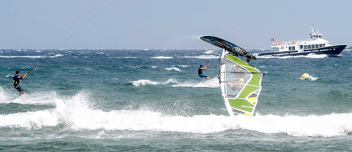 Windsurfers in Cannes, France.