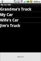Screenshot of My Car Info