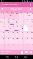 Screenshot of Menstrual Calendar