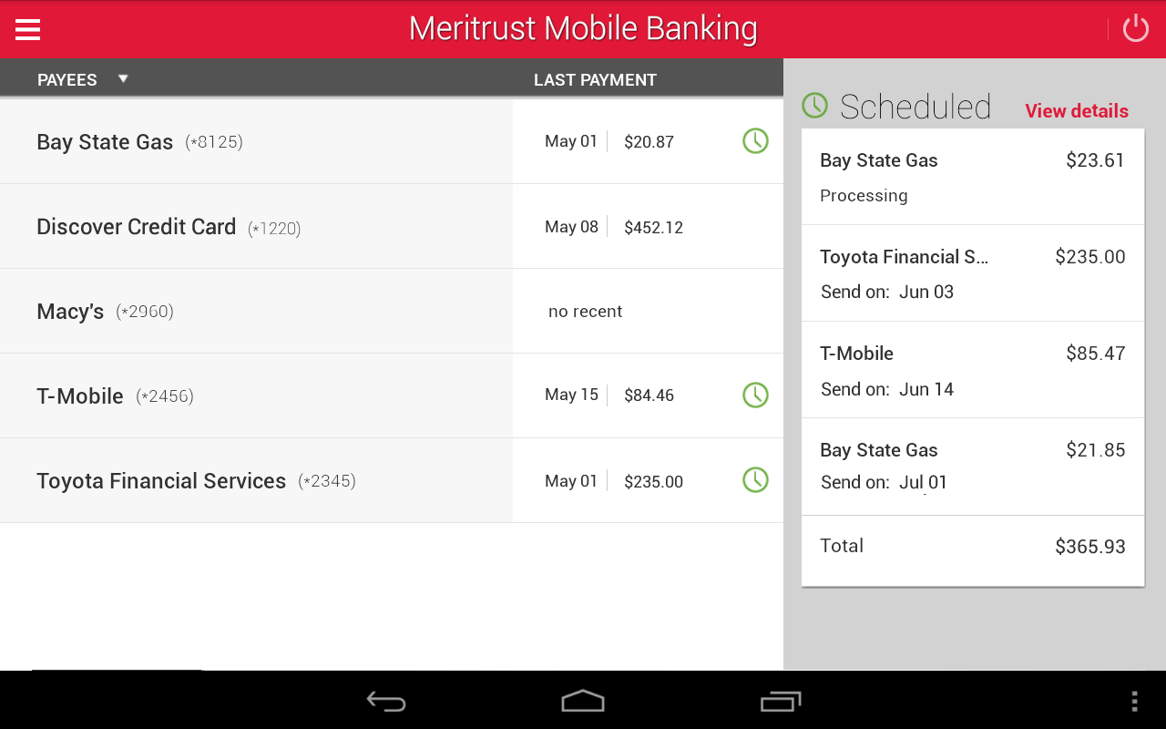 Meritrust CU Mobile Banking - screenshot
