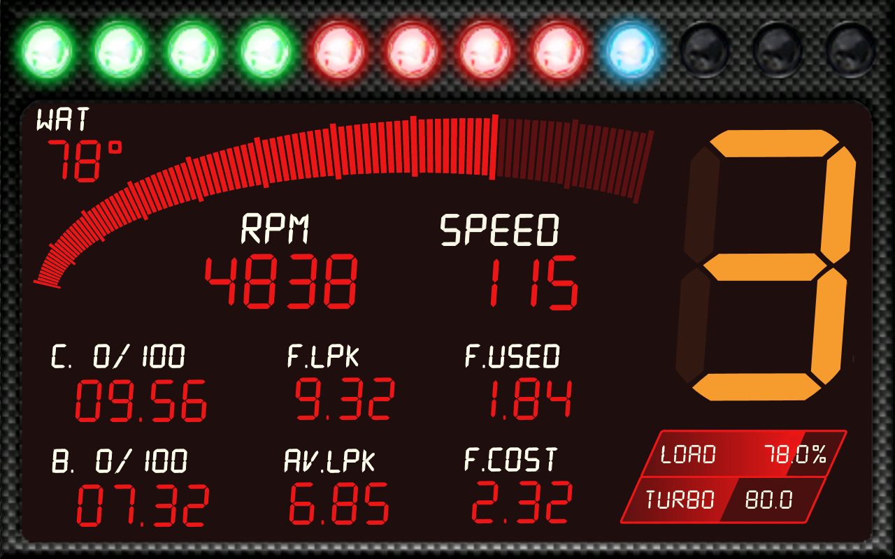 RacingMeter for Torque Pro- screenshot