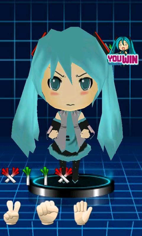 3D Miku finger-guessing game- screenshot