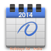 HOLIDAYS LIST, INDIA - 2014