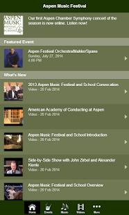 Aspen Music Festival- screenshot thumbnail