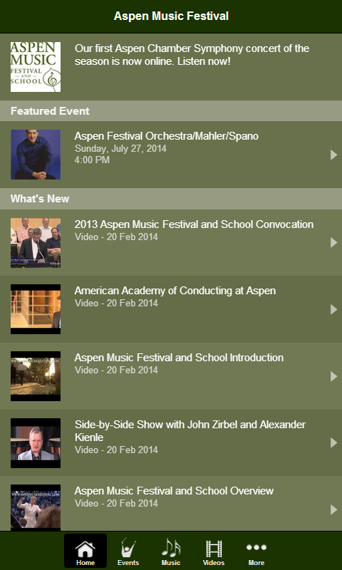Aspen Music Festival - screenshot