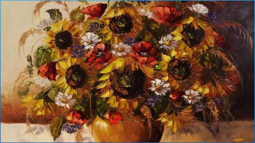 カラフルな花の壁紙