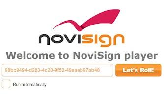 Screenshot of NoviSign Digital Signage Flash