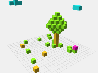 Voxels by Mr doob | Experiments with Google