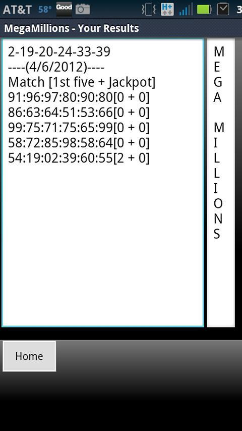 Mega Millions - Wallet- screenshot