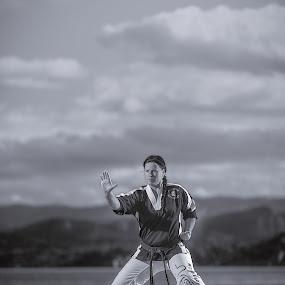 | martial arts woman | by Photo Jovan - People Portraits of Women ( flash, beuty dish, gi, d800, martial art, take wando, nikon, elinchrom, profoto, women, karate,  )