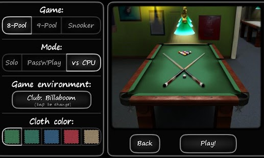 3D Pool game - 3ILLIARDS- screenshot thumbnail