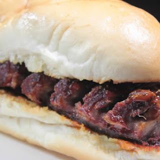 Smoked Baby Back Rib Sandwich.