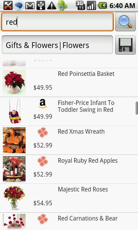 Flowers and Gifts Search- screenshot