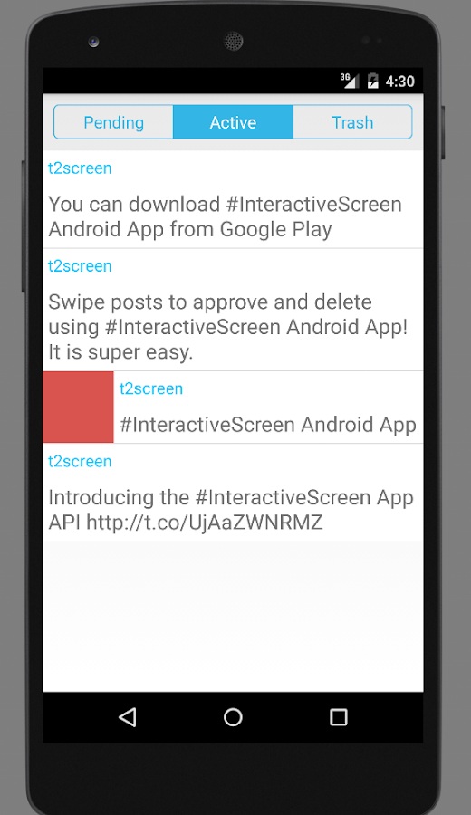 Interactive Screen App- screenshot