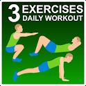 3 Exercises - Daily Workout icon