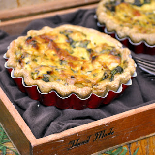 Sun-Dried Tomato and Spinach Quiche with Olive Oil Crust.