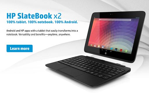 HP SlateBook x2 Screensaver