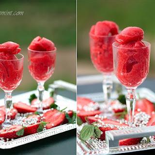 Strawberry Sorbet & Strawberry Yogurt Lollies