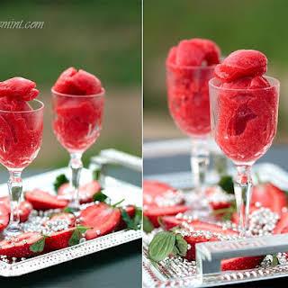 Strawberry Sorbet & Strawberry Yogurt Lollies.