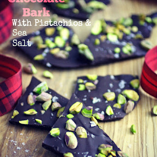 Chocolate Bark with Pistachios and Sea Salt