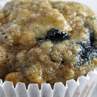 Whole Wheat Blueberry Banana Bread Muffins.