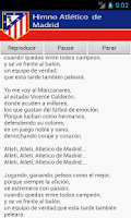 Screenshot of Atletico Madrid Anthem
