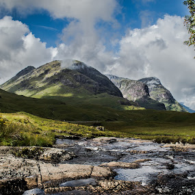 Three Sisters by Nicole Williams - Novices Only Landscapes ( mountains sisters glencoe scotland )