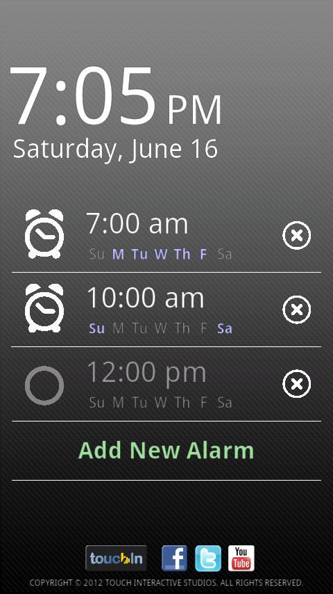 touchAlarm Lite: Alarm Clock- screenshot
