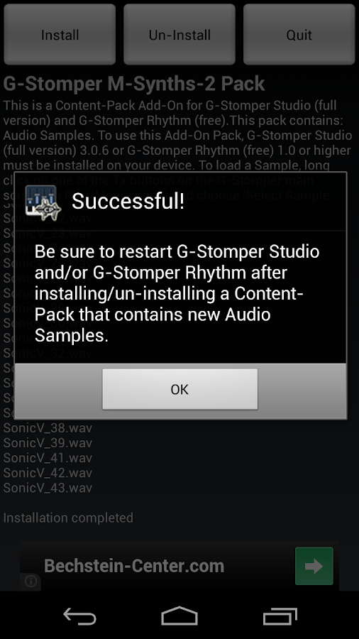 G-Stomper Mobile-Synths-2 Pack - screenshot