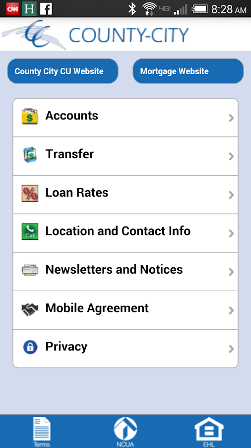 County-City CU Mobile- screenshot