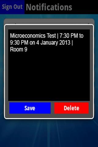 Student Diary - screenshot