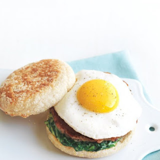 Egg Florentine Breakfast Sandwich.