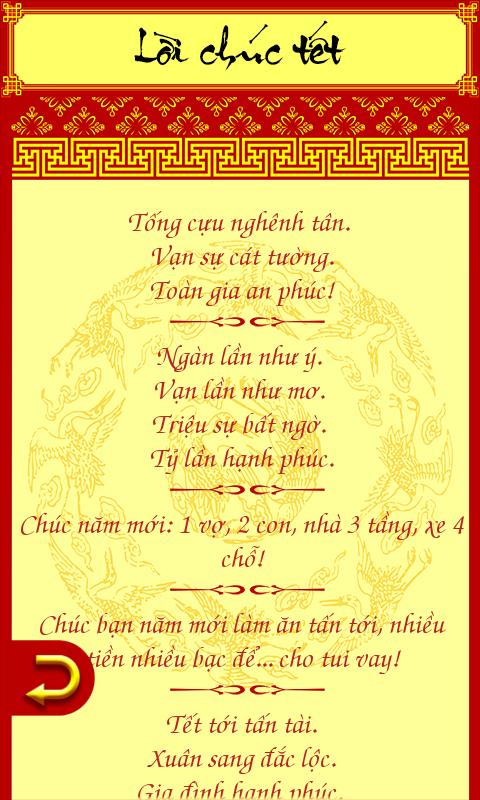 Lời chúc Tết Việt Nam - screenshot