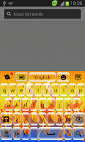 Screenshot of Digital Fire Keyboard
