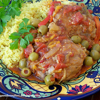 Spanish Chicken with Olives.