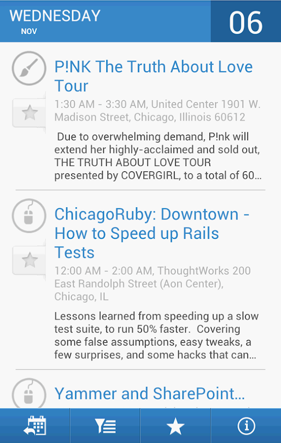 Chicago Events - screenshot
