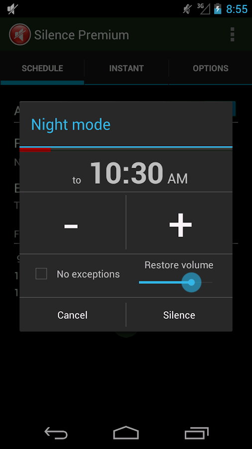 Silence Premium Do Not Disturb- screenshot