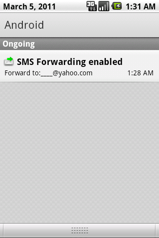 SMS Forwarding - screenshot