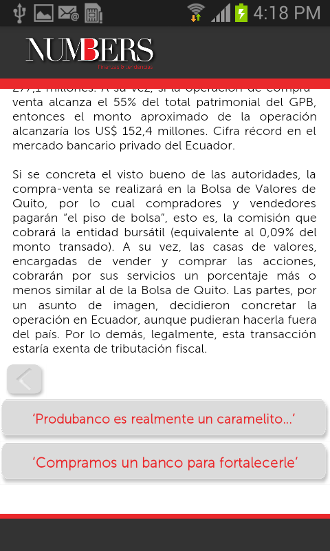 Revista Numbers - screenshot