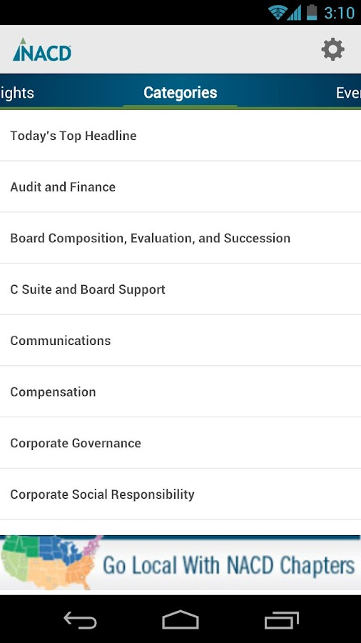 NACD Mobile- screenshot