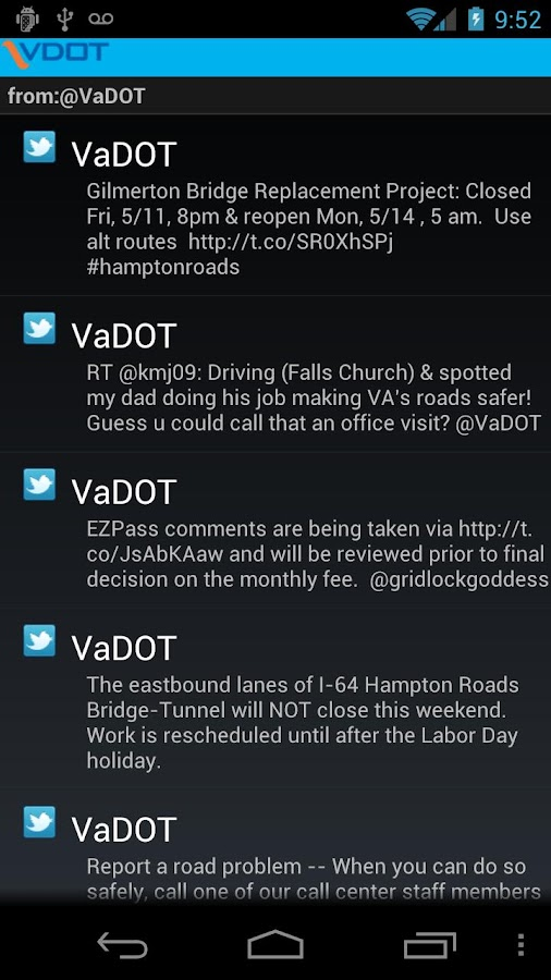 VDOT 511 - screenshot