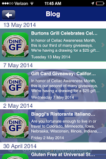 Dine Gluten Free- screenshot thumbnail
