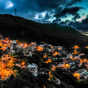 Taiwan Hill Landscape by Eddy Tan - Landscapes Mountains & Hills ( hill, mountain, taiwan, night, landscape,  )
