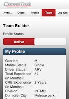 Screenshot of CareerTrak