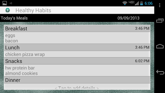 Healthy Meal Habits - screenshot thumbnail